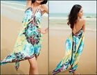 HALTER NECK MINI HANKY BEACH DRESS COVER UP ONE SIZE 10/12