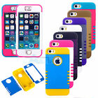 Triple Layer Hybrid High Impact Hard Tough Combo Case Cover for iPhone 5C 5S+Pen