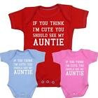 Baby Clothes Cute Auntie Aunty Bodysuit Vests One-Pieces Girls Boys Shower Gifts