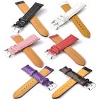 New PU Leather Watch Croco Grain Print Strap Band Belt 18mm 20mm 22mm Fits All