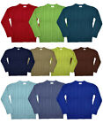 NEW: Boys/Girls 100% Cotton Cable Knit Jumper 2-12y Winter Warm Knitwear Xmas