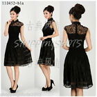 Chinese clothing dress qipao lace cheongsam 110452 black size 30-38 in stock