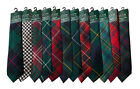 Scottish Clan Tartan Tie, Many Tartans Available! A-M