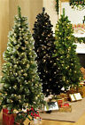 5ft 6ft pre lit green, frosted, black, christmas tree  led lights white coloured