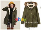 Hot! Women Thicken Warm Hooded Faux Fur Winter Coat Parka Overcoat Jacket R35