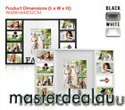 9 in 1 Photo Frame Wood Wall Collage Family Black/White Brand NEW Gift Idea