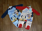 BABY DISNEY MICKEY MOUSE & PLUTO FLEECE ALL IN ONE PYJAMA ONESIE  SLEEPSUIT