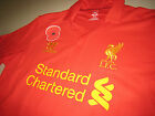 2012-13 Warrior Liverpool Poppy Remembrance Home Short-Sleeve Replica Shirt