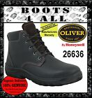 OLIVER Work boots Brown Leather Lace Up Non Steel Toe Hiking NEW +WARRANTY 26636