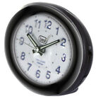 Compact Bedside Alarm Clock with Backlight • Silent Operation • Quiet no Ticking