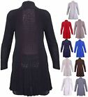 Womens Long Sleeve Waterfall Ladies Boyfriend Knit Open Cardigan Top Plus Size