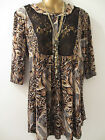 LACE FRONT, ANIMAL PRINT, LOOSE FIT TUNIC/TOP BNWOT'S IN SIZE 16-26
