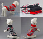 Red Pet Dog Puppy Soft Cozy Knit Sweater Clothes Apparel 6 Size XS/S/M/L/XL/XXL