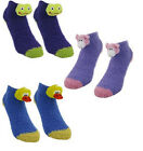 New Fun 3D Animal Slipper Socks Choice Of Frog Pig Or Duck Unisex UK 4-6 BNWT