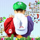 Luigi Super Mario Bros Cosplay Adult Size Hat Cap Baseball Costume BT