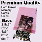 "Choose 3x5 4x6 5x8"" Pink Anti-Static Ziplock Bags 4Mil Heavy-Duty Reclosable PAS"
