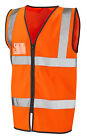 HI VIS VIZ ORANGE GO/RT VEST WAISTCOAT ZIPPED with ID POCKET