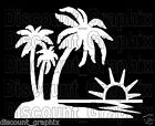 3 PALM TREE SUNSET BEACH SALT SEA LIFE STICKER DECAL ISLAND GIRL ALOHA OCEAN USA