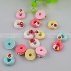 New DIY Strawberry Sweet Doughnut Cabochons Scrapbooking Ornament FlatBack Resi