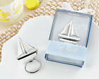 Silver Chrome Summer Nautical Sailboat Bottle Opener Bridal Wedding Favor