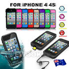 AU New Waterproof Shockproof Hard Heavy Duty Cover For Apple iPhone 4 4S Case