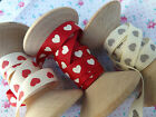 3m Berties bows heart print grosgrain 9mm wide NEW! xmas~sewing~wedding~crafts