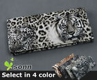 1 pcs Lady Women Tiger Print Long Wallet Purse Coin Bag