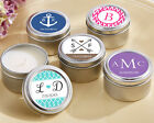 Personalized Candle Tin Anniversary Birthday Religious Baby Bridal Wedding Favor