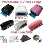 9W/36W UV Lamp Light Nail Gel Curing | Inc. Free Bulbs & Nail Gifts | FAST POST
