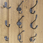 Coat Hooks Cast Iron Antique Hat and Coat Hook Single Double Robe Hook Pack of 3