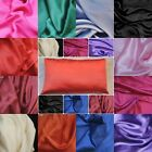 Silky satin pillow case queen standard king size covers new soft custom made