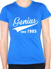 GENIUS SINCE 1985 - Birth Year /Birthday Gift / Novelty Themed Women's T-Shirt
