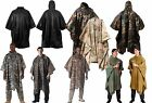 G.I. Type Military Rip-Stop Poncho Woodland Camouflage Digital ACU Black New