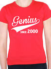 GENIUS SINCE 2000 - Birth Year /Birthday Gift / Novelty Themed Women's T-Shirt