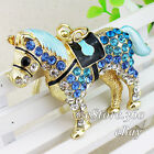 New Charm Horse Crystal Keychain Pendent Keyring Purse bag Key ring chain gift