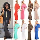 SOLID HOURGLASS MAXI ON/OFF SHOULDER DOLMAN SLEEVES BOUTIQUE QUALITY S M L XL