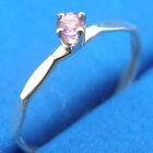 Amethyst Hammered Faceted stacker ring band, Hand Crafted sizes 1 through 12