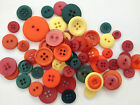 25g buttons - mixed sizes - scrapbooking sewing craft - choice of colours