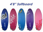 "4'8"" Soft Surfboard with Leg Rope and Fins. RAW Softboard"