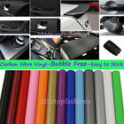 5ftx50ft 1.52X15M Air Free Carbon Fiber Car Vinyl Wrap Self-adhesive Wall Paper