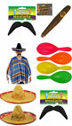 MEXICAN BANDIT MENS FANCY DRESS COSTUME BIRTHDAY  STAG NIGHT PARTY ONE SIZE