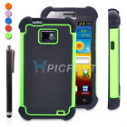 Rugged Armor Duty Hybrid Hard Case Phone Cover For Samsung Galaxy S2 i9100+Pen