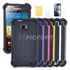 Film + Heavy Duty Rugged Hard Case Cover For Samsung Galaxy S2 S II i9100