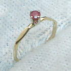Ruby Baby Keepsake Ring Hand Crafted 14k gold, July Birthstone size 00, 0, 1