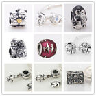 925 Solid Sterling Silver Family Love Series fit European Bead Charm Bracelet