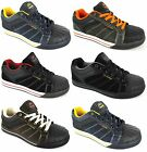 NEW MENS SAFETY SPORT LEATHER WORK LIGHTWEIGHT STEEL TOE CAP TRAINERS SHOES SIZE