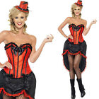 1920s Womens Red And Black Burlesque Dancer Fancy Dress Costume Sexy Outfit