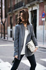 NEW ZARA 2013 GREY LONG PIN STRIPE BLAZER JACKET COAT ALL SIZES SOLD OUT