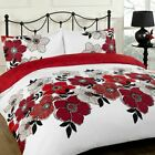 Dreamscene Pollyanna Duvet Cover with Pillow Case Bed Set Red Single Double King