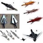 Broadheads Archery Arrow crossbow  Tips Bolts 100 / 125 grain Hunting  & Target